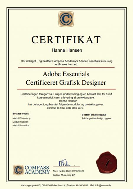 Adobe kursus certifikat