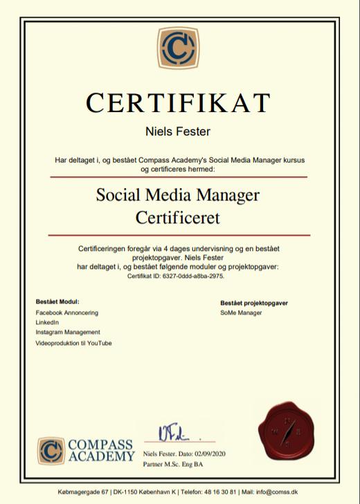 kursus certifikat